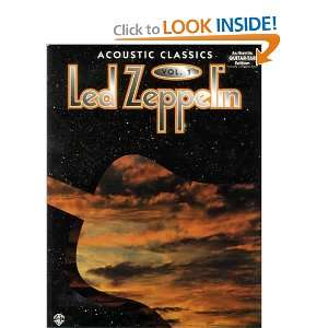 Led Zeppelin Acoustic Classics, Vol. 1 (9780897245890) Warner Books