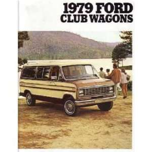 1979 FORD ECONOLINE CLUB WAGON Sales Brochure Automotive