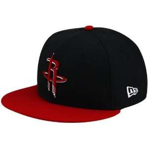 New Era Houston Rockets Black Red League 59FIFTY Fitted Hat (7 5/8