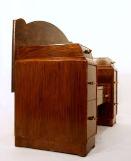 ART DECO BAR DRINK CABINET WALNUT rangement credenza