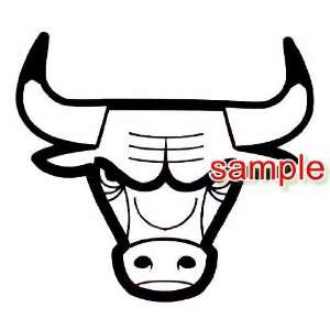 CHICAGO BULLS LOGO ALONE WHITE 11.5 VINYL DECAL STICKER