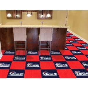 Fan Mats New England Patriots NFL Team Logo Carpet Tiles