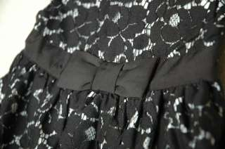 BABY GAP GIRLS BLACK LACE BUBBLE DRESS (NWT) 3 6 MONTHS
