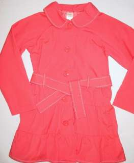 NWT Gymboree Girls Burst Spring Pink Trench Coat S 5 6