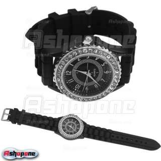New Silicone Gel Crystal Quartz Unisex Men Lady Jelly Watch