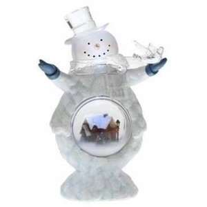 Pre Lit Cheerful Glitter Snowman with Bird Christmas Dome