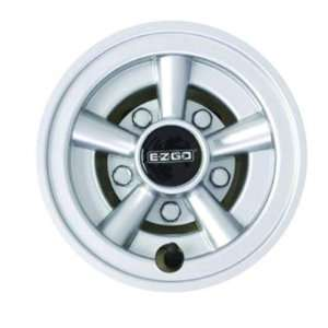com E Z GO 608627 8 Wheel Cover Painted With Chrome Lug Nuts, E Z GO