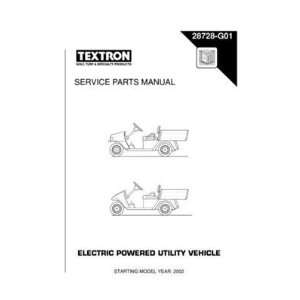 Parts Manual for Electric Utility Vehicle Patio, Lawn & Garden