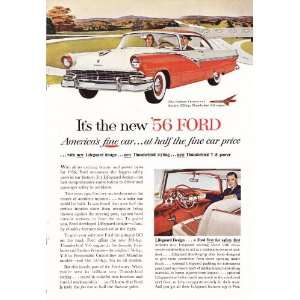 1956 Ad Ford Thunderbird V 8 Muscle Car Original Vintage Car