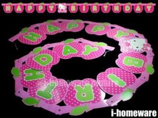 Hello Kitty Happy Birthday Letter Banner Flag D982