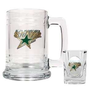 Sports NHL STARS Boilermaker Set   Primary Logo/Clear Glass Sports