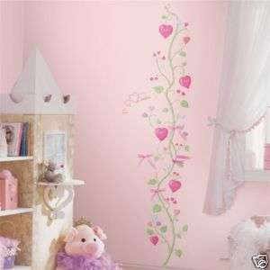 Girls LITTLE PRINCESS Vinyl Growth Chart Wall Stickers 034878979458