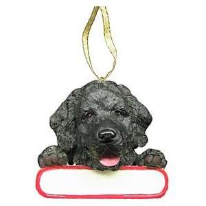 Personalizable Newfie Christmas Ornament
