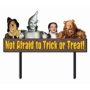 Afraid to Trick or Treat Sign Halloween Prop Decoration Toys & Games