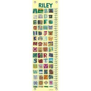 childrens growth chart   animal alphabet