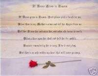 IF ROSE GROWS IN HEAVEN Personalized Name Poem Prayer