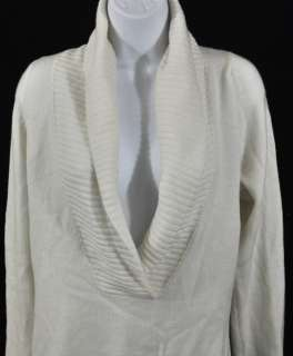 Kirkland Womens Long Sleeve Cashmere Shawl Collar Sweater Ivory Size