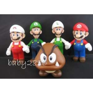 Super Mario Bro Action Figure Toy 5 Pcs Set Toys & Games