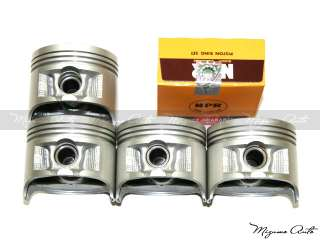 88 95 Honda Civic Del Sol CRX 1.5L D15B Piston Set w/ Rings + Main Rod