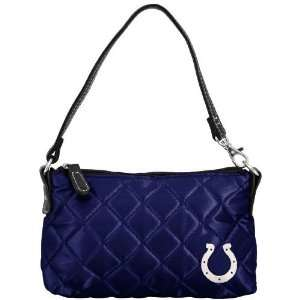 NFL Indianapolis Colts Ladies Navy Blue Wristlet Quilted Purse