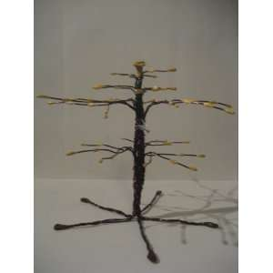 Canary Full Grown Earring Tree Organizer/Brown Tree Display Stand/Ring