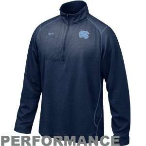 Nike North Carolina Tar Heels (UNC) Navy Blue Turbo 1/4 Zip Long
