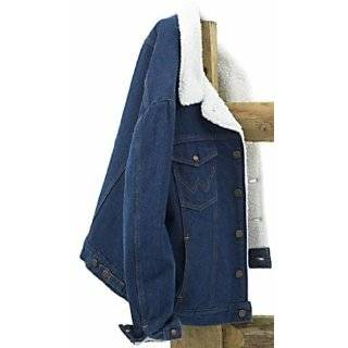 Wrangler Mens Big andTall Flannel Lined Denim Jacket