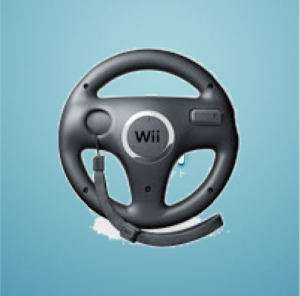 New Black Official Genuine Nintendo Wii Racing Wheel