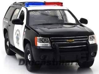 24 2010 CHEVY TAHOE HIGHWAY PATROL NEW DIECAST POLICE CAR BLACK WHITE