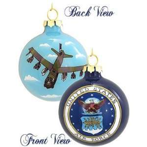 Inside Art Air Force Glass Ornament