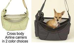 Cross Body Airline carry on small Pet Carrier puppy Dog cat Tote Bag
