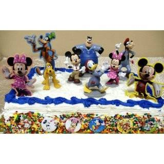 Mouse Clubhouse Cake Topper Set Featuring Mickey Mouse, Minnie Mouse
