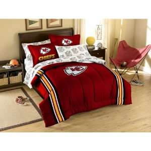 BSS   Kansas City Chiefs NFL Embroidered Comforter Twin/Full (64 x 86