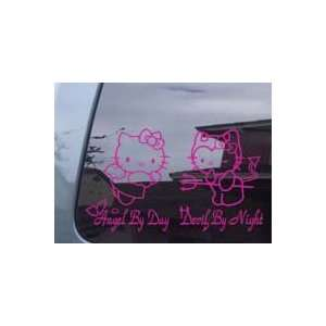 Hello Kitty Angel & Devil Car Window Truck Vinyl Decal Sticker P007