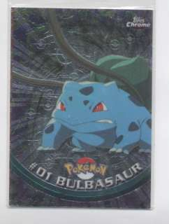 01 BULBASAUR ** POKEMON**    2000 TOPPS POKEMON CHROME CARD