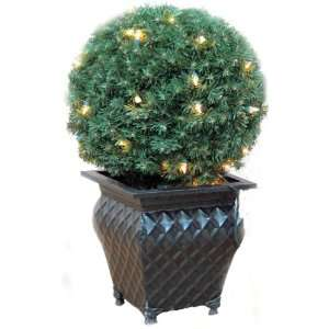 Good Tidings Artificial Christmas Topiary Shrub Ball, 14 Inches