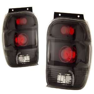 1998 2000 Ford Explorer KS Black Tail Lights Automotive