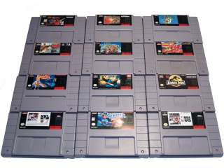 Super Nintendo Snes 12 Game Lot (Star Fox, Mario Kart,Mario World