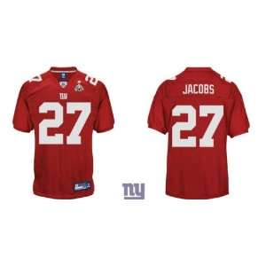 New York Giants #27 Brandon Jacobs Jerseys Red Jersey (2012 Super Bowl