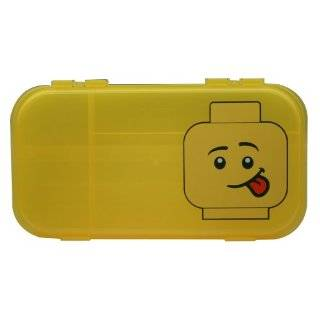 IRIS LEGO Minifigure and Brick Storage Case, Red