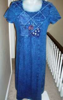 OLIVIA ROSE NEW YORK BLUE DRESS, WOMENS PETITE SIZE 6P