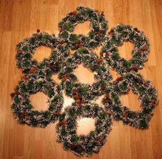Covered Real Pine Cones 13 Christmas Wreaths Decorations NEW