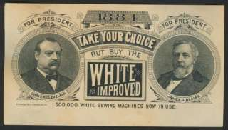 1884 Cleveland & Blaine President Election Trade Card