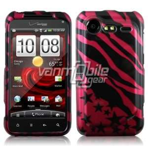 Incredible 2 2nd Generation Hard Design Case   Pink Black Zebra Stars