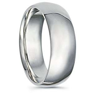 316L Stainless Steel Ring Dome Wedding Band High Polished Band Width