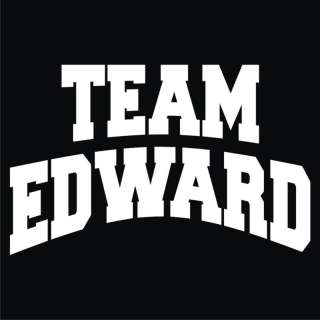 TWILIGHT Team Edward Black T Shirt Mens & Womans shirt