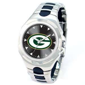 Green Bay Packers Mens Silver Victory Series Sports Watch