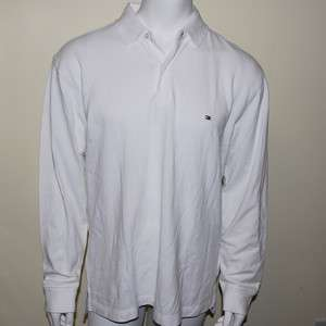 NWT MENS TOMMY HILFIGER LONG SLEEVE POLO SHIRT WHITE XS S M L XL XXL