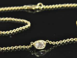 Gold Solitaire Champagne Pink Diamond Pendant Chain Necklace