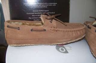 11 TAN COMMANDER SUEDE LEATHER IN/OUTDOOR SLIPPERS SHOES $60